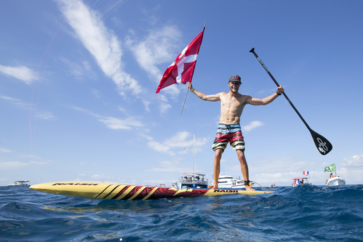 Casper Steinfath: winner of the SUP Technical Racing gold medal | Photo: Reed/ISA