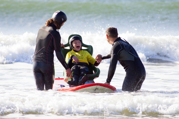 Tandem surfboard: Cerebra's surf solution for disabled children | Photo: Mark Griffiths