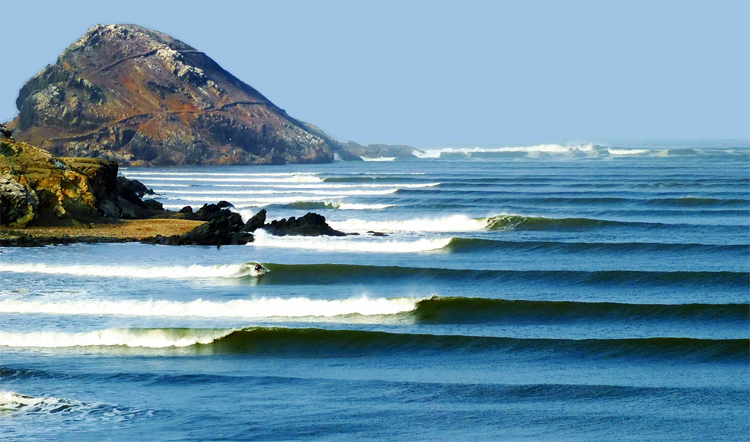 Chicama: one of the most perfect left-hand waves in the world