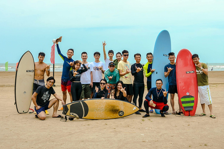 China: surfing is growing fast