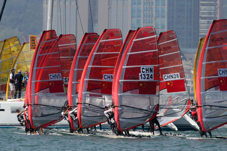 RS:X: China is conquering the world of windsurfing | Photo: ISAF