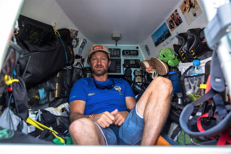 Chris Bertish: the South African is paddling across the Atlantic on a specially-designed SUP | Photo: Chris Bertish