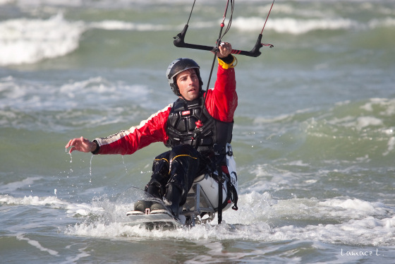 Christophe Martin: a special kiteboarder with special gear