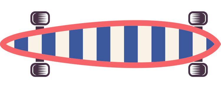 The Classic Longboard Skateboard
