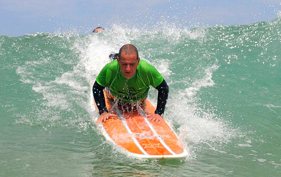 Claudy Robin: surfing is for everyone