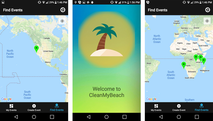CleanMyBeach: the beach cleanup app developed by Arjun Sharma