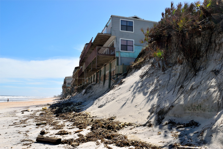 Coastal erosion: half of the world