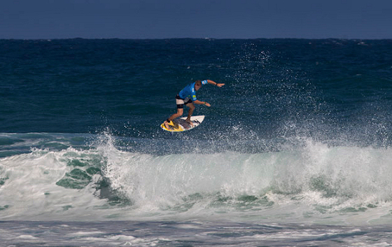 Cody Thompson: flying over Jobos Beach