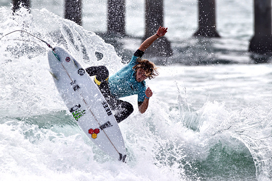 Conner Coffin: smashing the section at Huntington Beach Pier