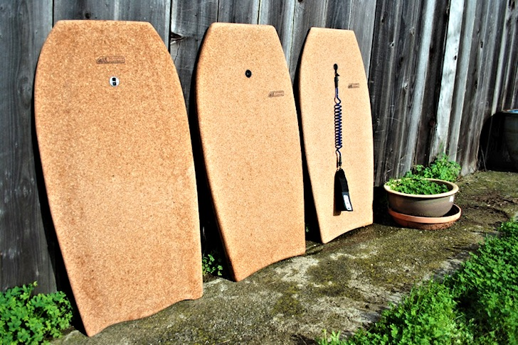 Bodypo: a bodyboard/paipo made of cork and fiberglass | Photo: California Surfcraft