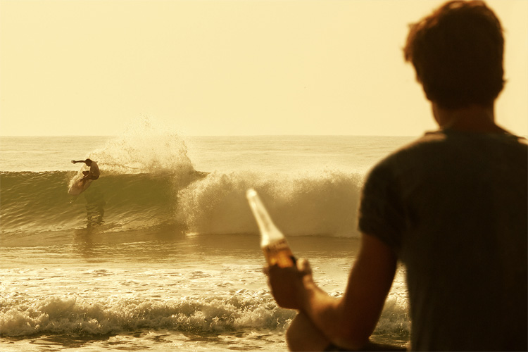 Corona: they know how to sell a beer to surfers