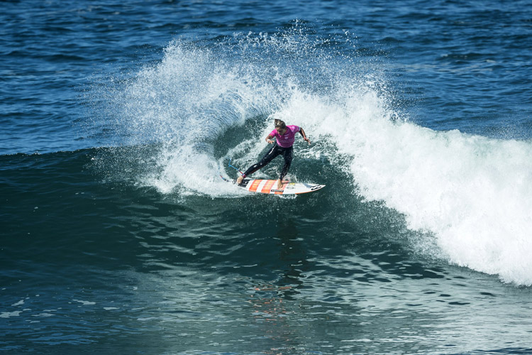 Courtney Conlogue: she always does well in Guincho | Photo: Poullenot/WSL