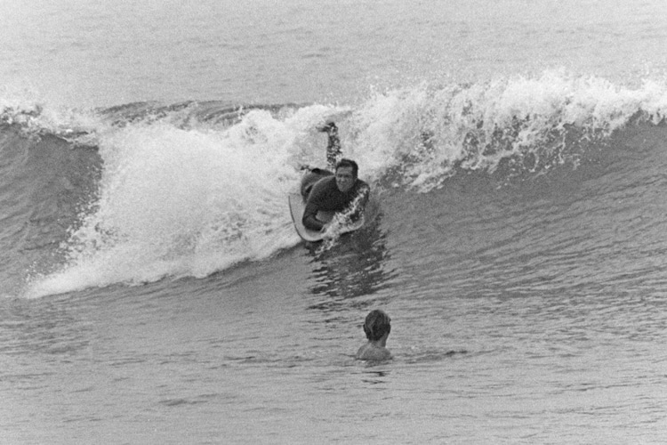 Craig Libuse: riding the Morey Boogie at Tamarack Beach in 1974 | Photo: Libuse Archive