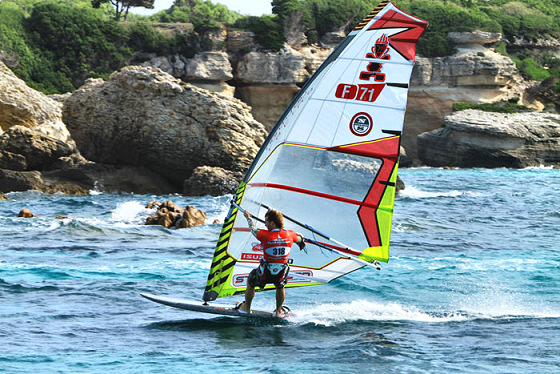 Cyril Moussilmani: rocky windsurfer