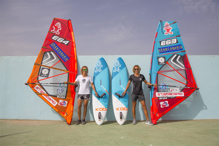 Daida and Iballa: fighting for equal prize money in windsurfing | Photo: Carter/PWA