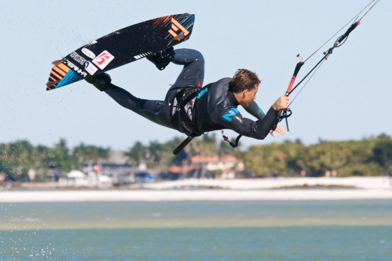 Damien Leroy was second in the 2010 Jupiter Kiteboarding Invasion
