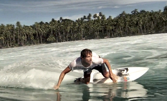 Dane Reynolds: eyeing the ramp above