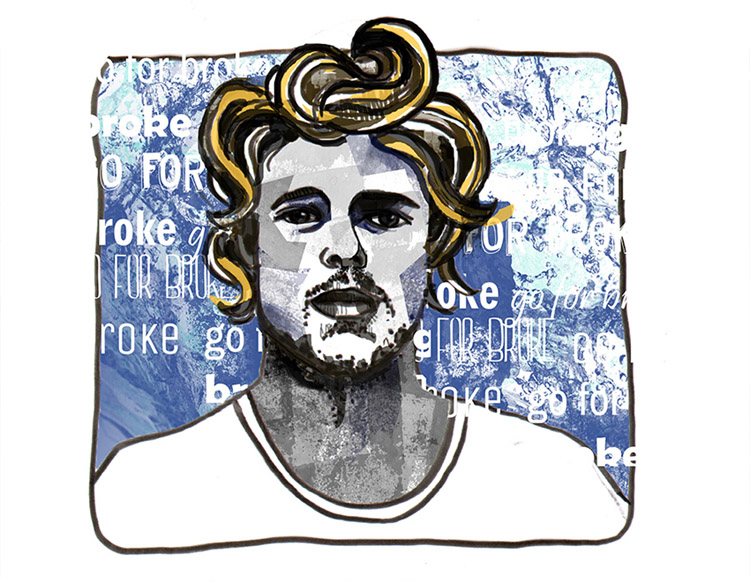 Dane Reynolds: surf art by Yago