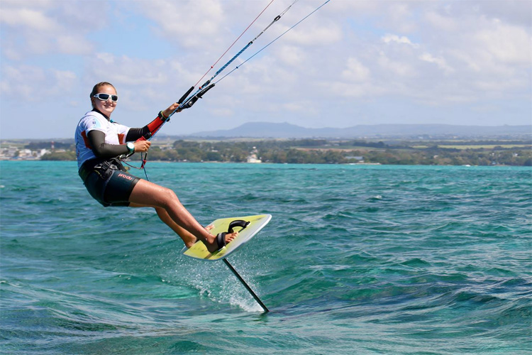 Daniela Moroz: she won the Formula Kite World Championships and the Hydrofoil Pro Tour