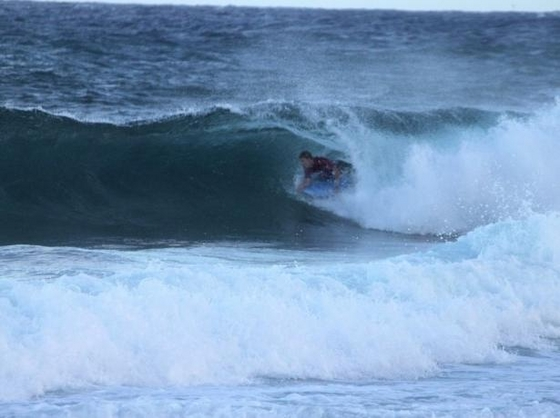 Dave and Busters Sandy Beach Pro: small waves in great spirit