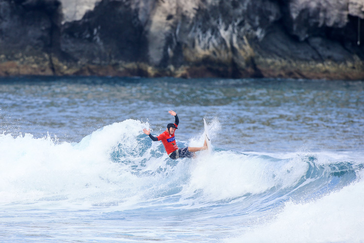 Dave Macaulay: the winner of the 2018 Azores Airlines World Masters Championship | Photo: Masurel/WSL