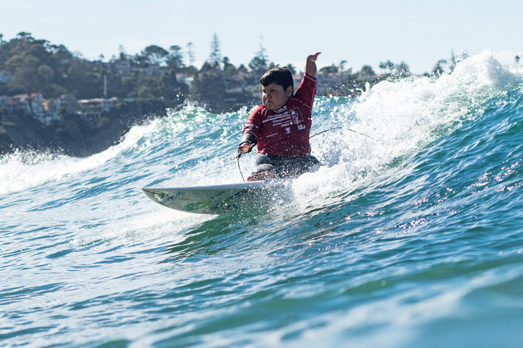 Davi Teixeira: he became a world adaptive surfing champion at 11 years of age | Photo: Grant/ISA