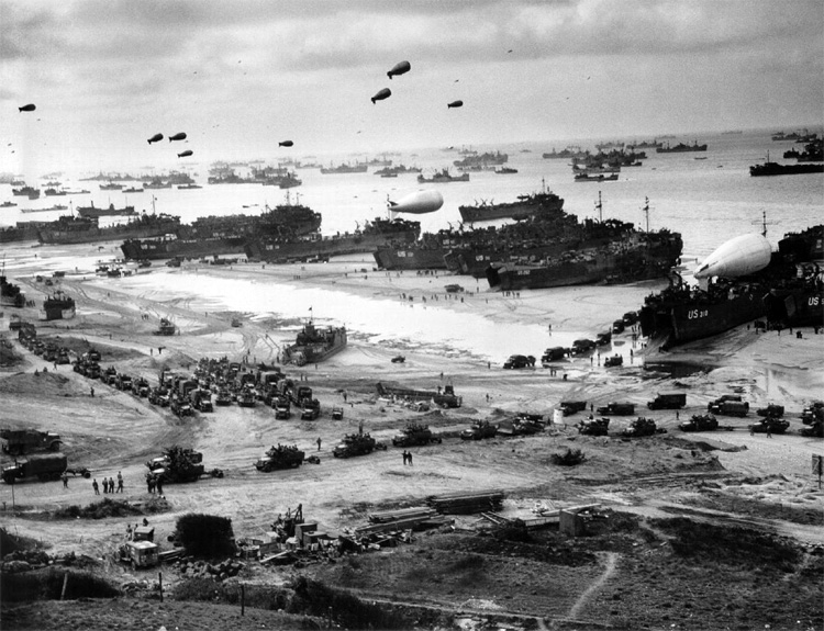 D-Day: no waves, just bullets