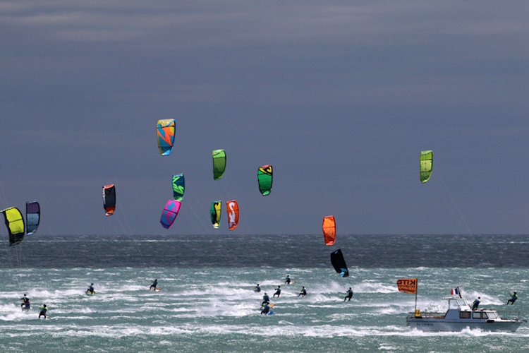 Défi Kite 2016: the event had 50 knots of wind | Photo: Jauffroy/Défi Kite