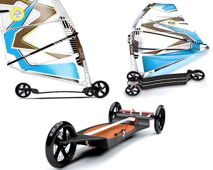 Deska Board: city windsurfing with brakes