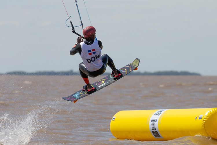 Deury Corniel: kiteboarding'g gold winner at the 2018 Youth Olympic Games | Photo: World Sailing
