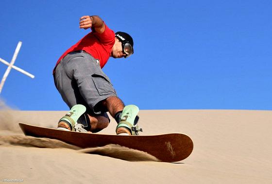 Digiácomo Dias rides the biggest sand dunes in the world