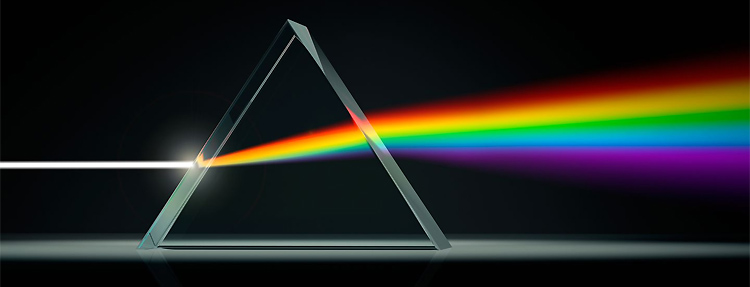 Dispersion of light: different colors refract at different angles