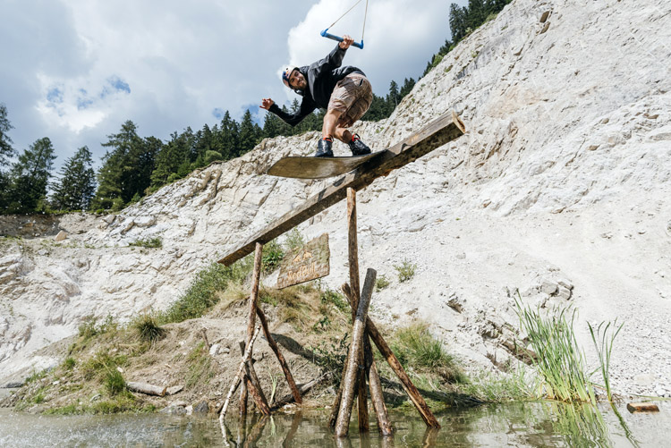 Dominik Hernler: wakeboarding in a disused Austrian quarry | Photo: Strauss/Red Bull