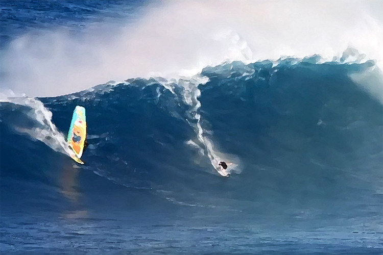 Brad Domke: a windsurfer almost blew up his performance at Jaws