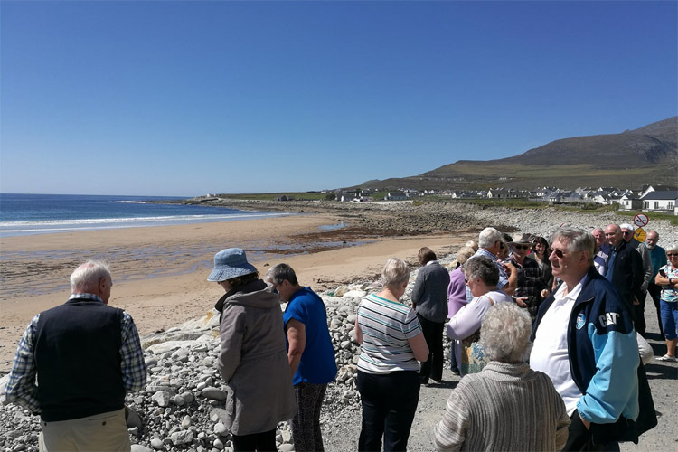 Irish beach reappears after being washed away 33 years ago