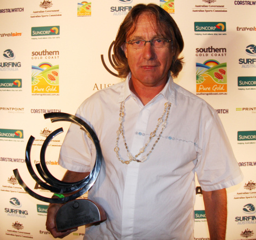 Doug Warbrick: huge contribution to the sport awards him a place in the Australia's Surfing Hall of Fame'