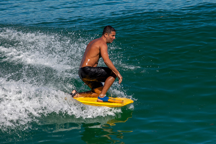 Drop-knee: a Jack Stance bodyboard traditionally features a rounded nose template | Photo: Shutterstock