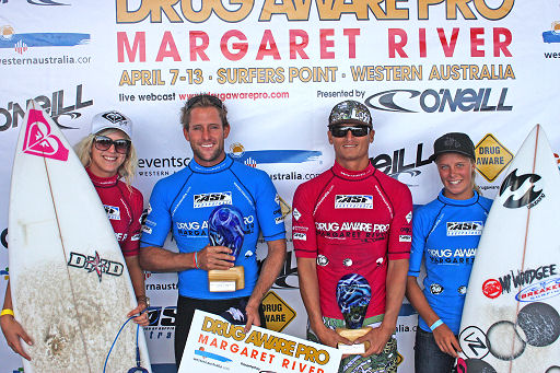 2008 Drug Aware Pro Margaret River: Tom Whitaker and Paige Hareb claim the trophies