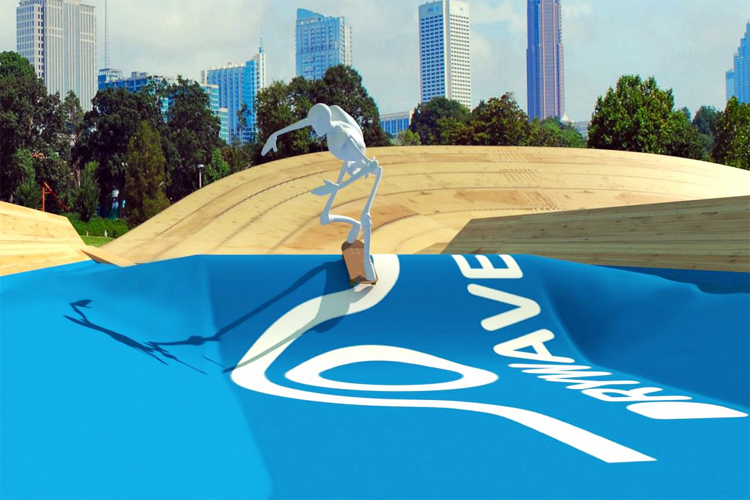 Dry Wave: an artificial wave for skateboarders, snowboarders, and BMXers | Photo: Dry Wave