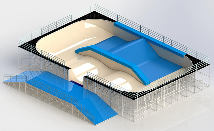Dry Wave: a wave propagation system for plastic, grass, sand, snow, silicone, and particle floors like ball pools | Photo: Dry Wave