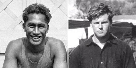 Duke Kahanamoku and Tom Blake