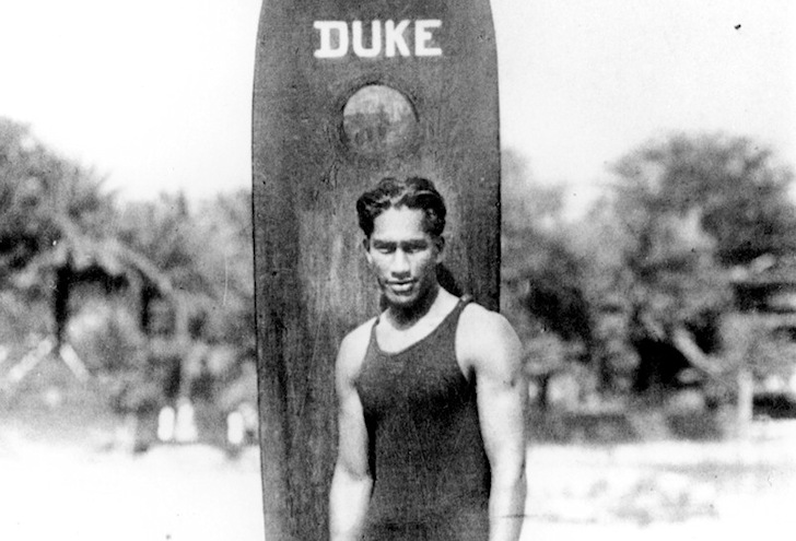Duke Kahanamoku: the redwood surfboard