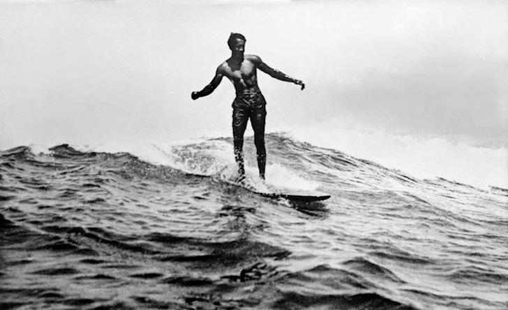 Duke Kahanamoku: surfing Waikiki, his favorite spot