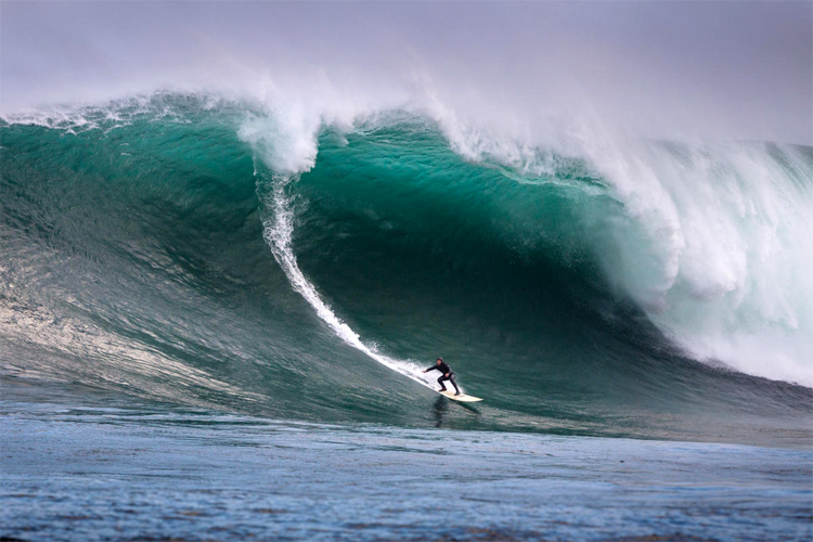 Dungeons: Africa's biggest wave breaks in shark-infested waters | Photo: Harley/WSL