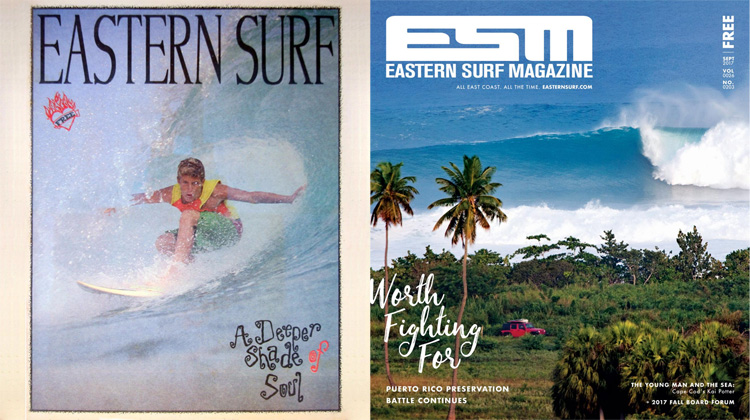 Eastern Surf Magazine: the first (1991) and the last issue (2017)