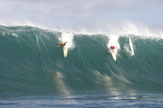 The Quiksilver in Memory of Eddie Aikau: tradition says one must fall