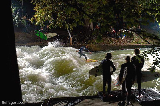 Eisbach Wave in Munich