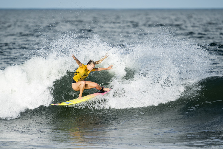 Ella Williams: the Kiwi surfer secured a provisional spot in Tokyo 2020 | Photo: Reed/ISA