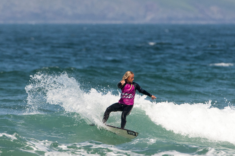 Ellie Turner: two victories in one event | Photo: Surfing GB