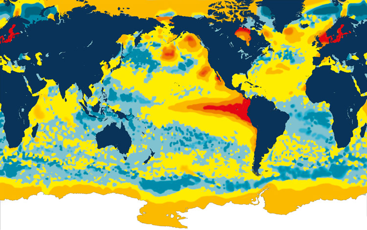 El Niño: the world water temperatures in September 1997 | Photo: NOAA